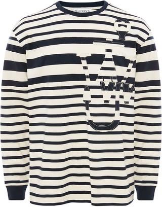 J.W.Anderson long-sleeve stripe Anchor motif T-shirt