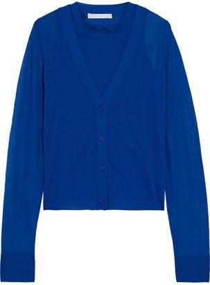 Helmut Lang Layered Cotton-blend Cardigan