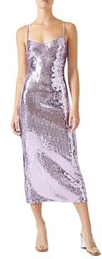 Galvan Berlin Mirrored Bustier Dress