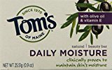 Tom's of Maine Natural Beauty Bar Daily Moisture with Olive Oil & Vitamin E Soap Trial Size, 0.9-Ounce, Pack of 12