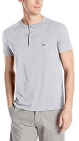 Lacoste Men's Short Sleeve Henley Jersey Pima Regular Fit T-Shirt