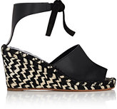 Proenza Schouler WOMEN'S LEATHER ESPADRILLE WEDGE SANDALS