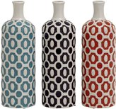 Plutus Brands Attractive and Stylish Ceramic Vase 3 Assorted
