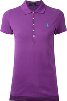 Polo Ralph Lauren embroidered polo shirt - women - Cotton/Spandex/Elastane - M