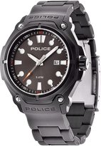 Police 13939jsb61 Ion Plated Stainless Steel Case Black Plastic Mineral Men's Watch