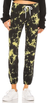 Monrow Vintage Sweats With Black Out Tie Dye