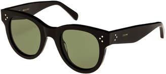 Celine Studded Acetate Sunglasses w/ Mineral Lenses, Black