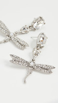 Oscar de la Renta Crystal & Pave Dragonfly Drop Earrings