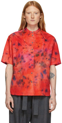 Rokh Red Tie and Dye Short Sleeve Shirt