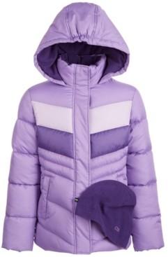 CB Sports Big Girls Colorblocked Puffer Coat