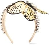 Dolce & Gabbana Crystal-embellished butterfly satin headband