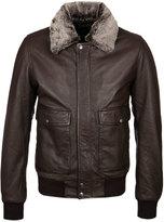 Schott Nyc Brown Top Gun Leather Jacket