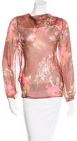 Matthew Williamson Silk Floral Print Blouse