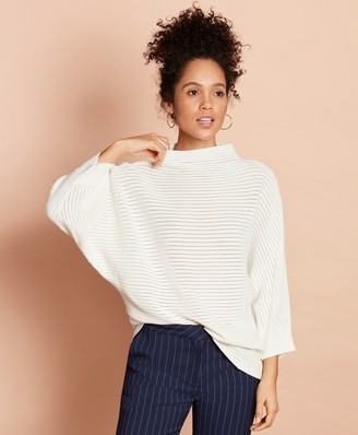 Brooks Brothers Cotton Pointelle Dolman Sweater