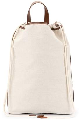 Le 17 Septembre squared canvas backpack