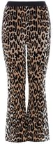 Stella McCartney cheetah jacquard trousers