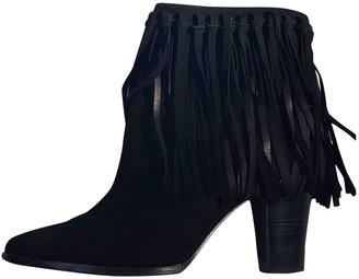 Ralph Lauren Black Leather Ankle boots