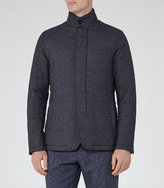 Reiss Reiss Hector - Quilted Jacket In Blue