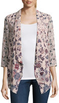 EYESHADOW GIRLS Eyeshadow 3/4 Sleeve Floral Kimono Juniors