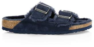 Birkenstock Arizona Shearling-Lined Suede Sandals