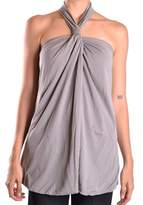 Dondup Women's Grey Cotton Tank Top.