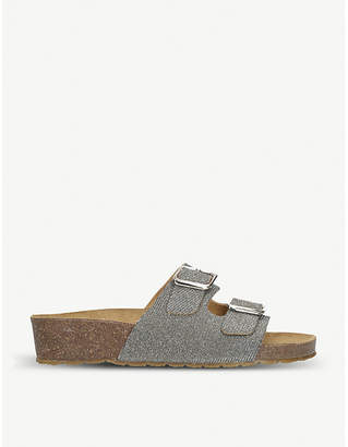Carvela Comfort Sasha metallic double-strap sandals