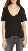 BP Women's Raw Edge V-Neck Tee