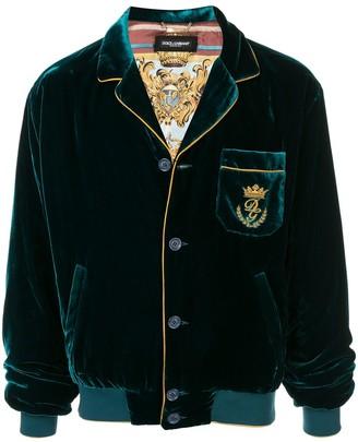 Dolce & Gabbana velvet pyjama bomber jacket