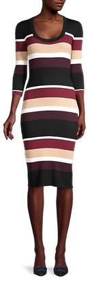 Trina Turk Striped Bodycon Dress