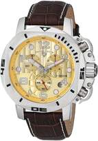 Swiss Legend Men's 10538-010 Scubador Chronograph Brown Leather Watch