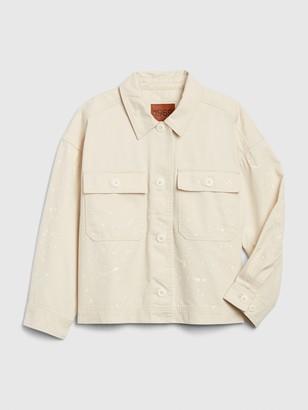 Gap 1969 Premium Cropped Utility Jacket