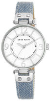 Anne Klein Silvertone Light Denim Strap Watch, 10-9169WTLD