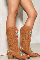 Nasty Gal Wild West Floral Cowboy Boots