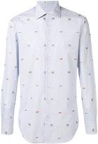 Etro crab embroidery striped shirt - men - Cotton - 39