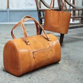 Nkuku Leather Weekend Bag