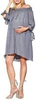 Maternal America Women's Juliet Off The Shoulder Maternity Dress