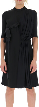 Prada Asymmetric Pleated Dress