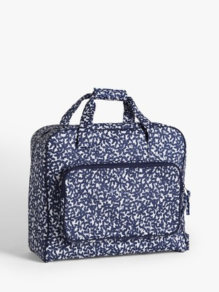 John Lewis & Partners Leaf Print Sewing Machine Bag, Navy