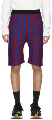Marni Red and Blue Knit Shorts