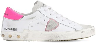 Philippe Model PARIS STUDDED LEATHER & SUEDE SNEAKERS