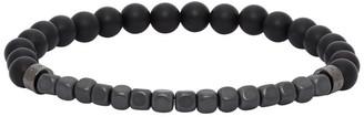 HUGO BOSS Black Agate Beaded Bracelet