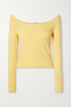 Georgia Alice Pearl Stretch-knit Top - Pastel yellow