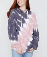 Ivory Ella Women's Sweatshirts and Hoodies TIE - Pink Tie-Dye Organic Cotton Hoodie - Women