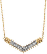 Townsend Victoria Diamond V Necklace in 18k Gold over Sterling Silver (1/4 ct. t.w.)
