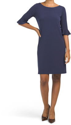 Made In Usa Blake Bell Sleeve Sheath Dress
