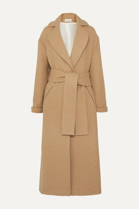 King & Tuckfield - Oversized Belted Wool-blend Coat - Camel