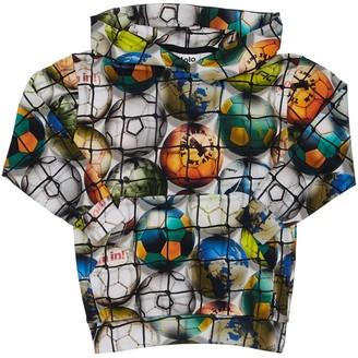 Molo Football Print Organic Cotton Sweatshirt