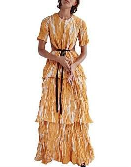 CHRISTOPHER ESBER Tiered Crush Tee Dress