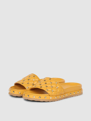 Saint G Gina Studded Mule - Yellow
