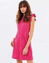 Warehouse Bonded Lace Skater Dress